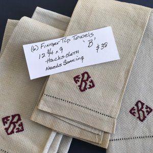 (6) Finger Tip Towels 'B' Monogram